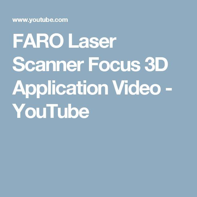 FARO Laser Scanner Focus 3D Application Video - YouTube