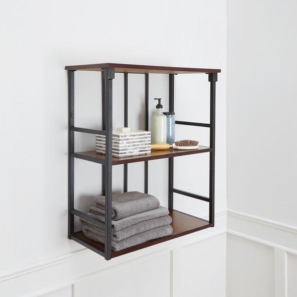 Modernbook Design: Mixed Material Bathroom Collection 3-Tier Wall Shelf