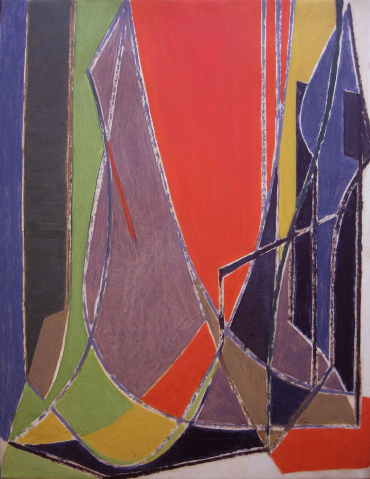 'In the style of L'Atelier' Oil on paper laid down on canvas: 63 x 49 cm by Othello Radou (1910 - 2006)  http://www.johnadamsfineart.com/artists/othello-radou/