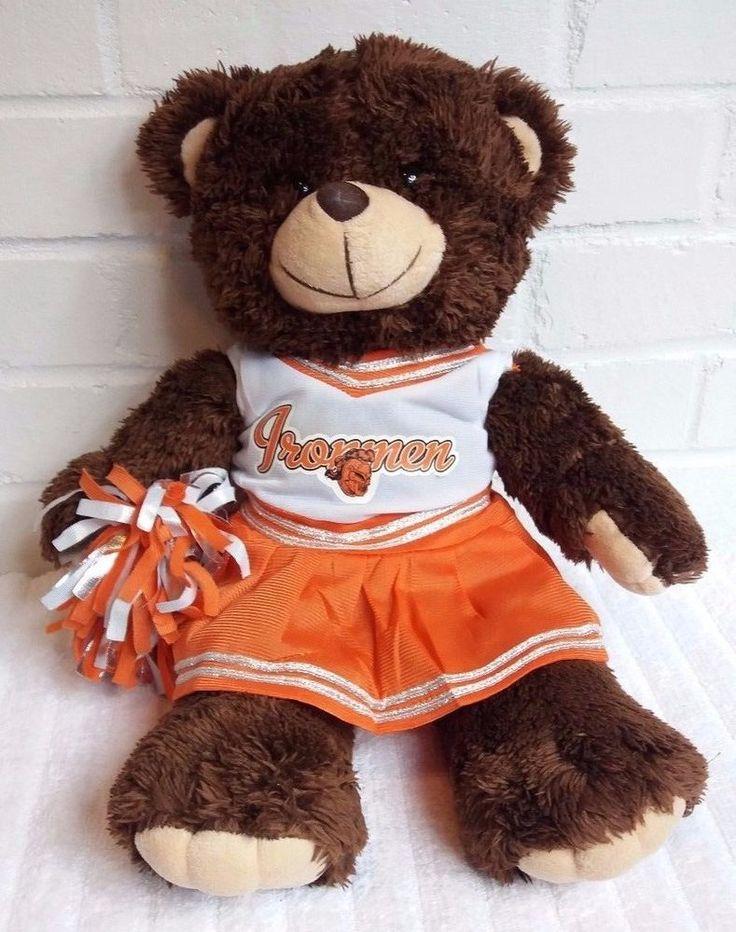 Ironmen Football Brown Teddy Bear Cheerleader Stuffed Animal Plush Orange  (A13) #Unbranded