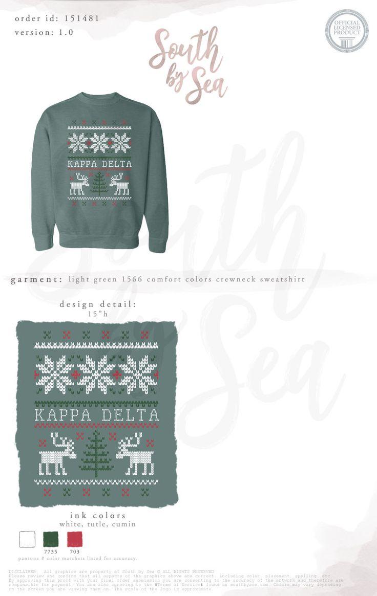 Kappa Delta | KD | Ugly Christmas Sweater | Cute Christmas Sweater | Reindeer | Snowflakes | Holiday | Winter | South by Sea | Greek Tee Shirts | Greek Tank Tops | Custom Apparel Design | Custom Greek Apparel | Sorority Tee Shirts | Sorority Tanks | Sorority Shirt Designs