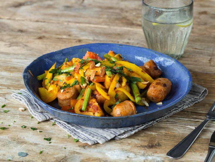 Runderchipolata met gewokte groenten en krieltjes