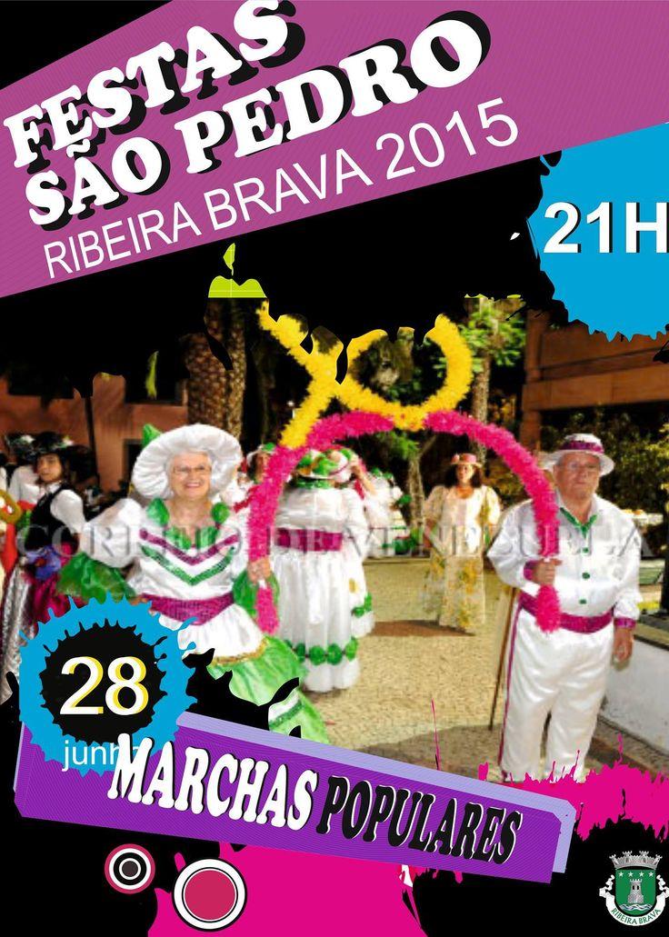 Festas de São Pedro Ribeira Brava 28 de junho Marchas Populares