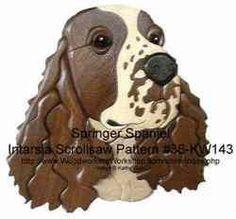 36-KW143 - Springer Spaniel Intarsia Woodworking Pattern