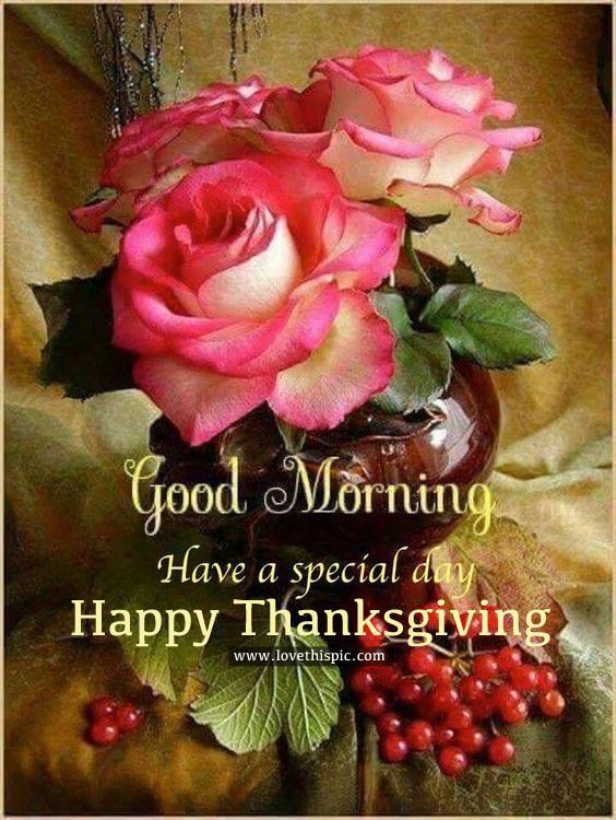 Special Good Morning Happy Thanksgiving Quote Greetings Good