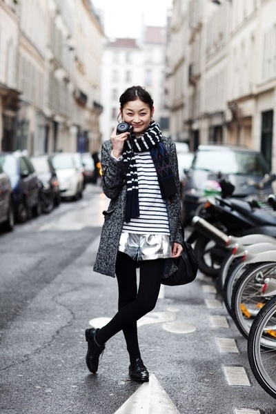 double up on various width stripes - in neutrals - is a fun way to play with pattern for fall