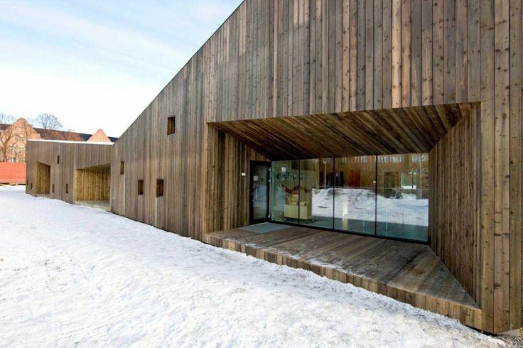 A wooden kindergarten in Oslo http://www.morfae.com/a-wooden-kindergarten-in-oslo/ #architecture #modern #wood #kindergarten