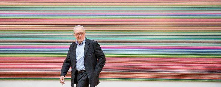 """Gerhard Richter in his exposition """"Streifen und Glas"""" / """"Stripes and Glace"""", Albertinum, Dresden, 2013"""