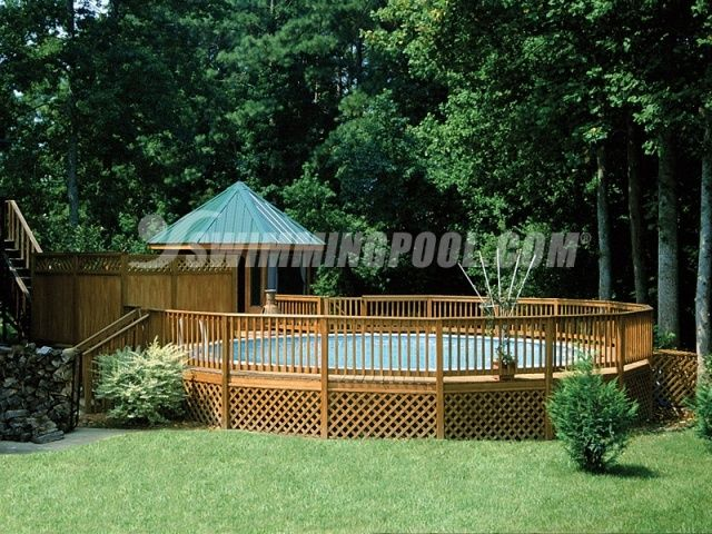 Above Ground Pool Landscaping | landscape ideas for above ground pool - Google ... | Let's go outside