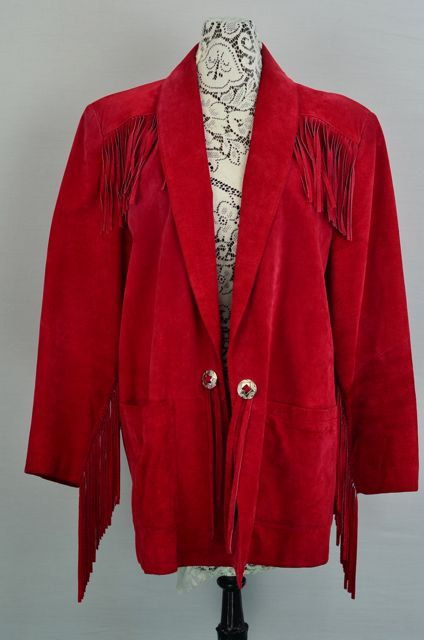 1970s  1980s  Red Suede Jacket  Vintage by 86CharlotteStreet