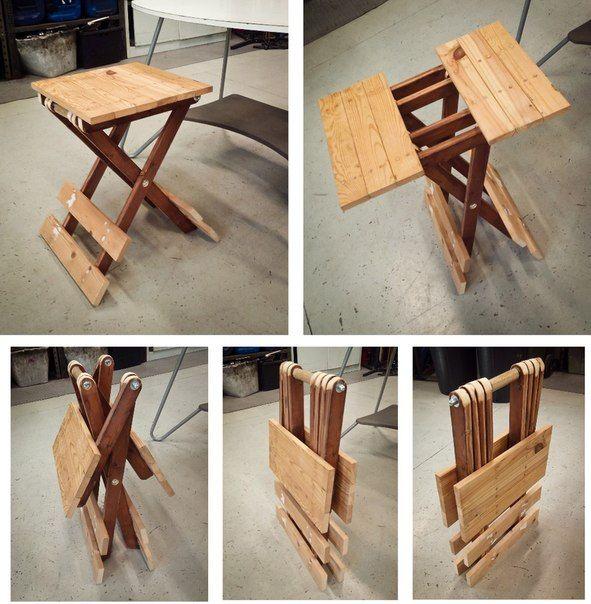 Складной столик. #DIY_Идеи