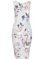 Womens *Quiz Floral Stripe Midi Dress- Multi