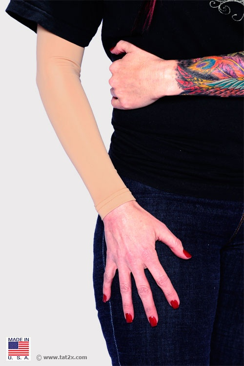 Cover Up Tattoos.. Such a great idea! I couldn't imagine wearing a whole other layer under my uniform at work.