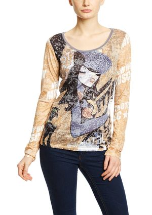 On ideel: CUSTO BARCELONA Printed Long Sleeve Top