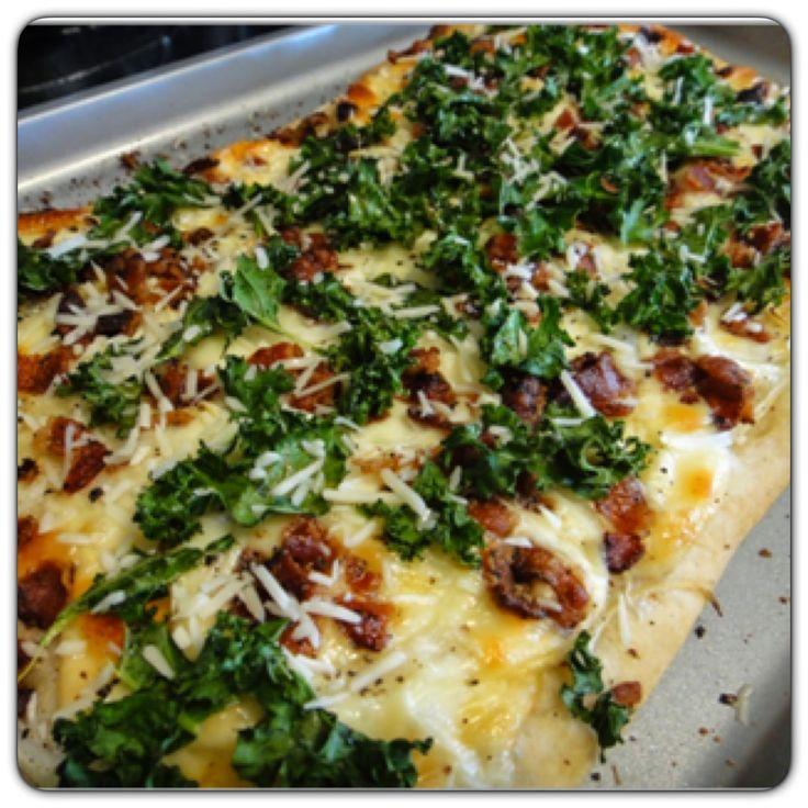 Bacon & Kale Pizza