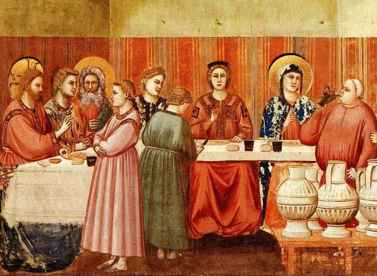 Wedding Feast In The Bible | 15 GIOTTO THE WEDDING AT CANA FRESCO SCROVEGNI CHAPEL