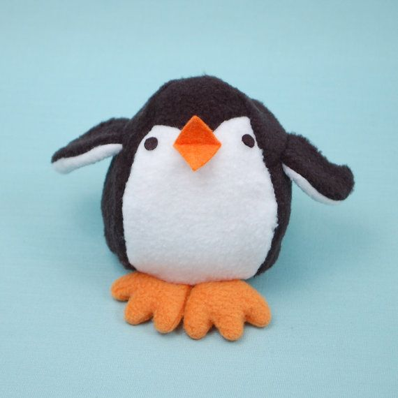 Pinguin & Ei Reversible Softie PDF-Schnittmuster