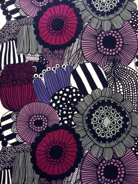 Marimekko fabric Marimekko fabric by the yard by YulkisHomeDecor