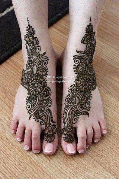 Bridal Mehndi Designs 2012 For Feet 003
