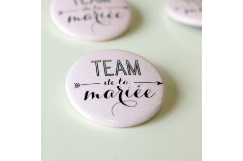 Badges mariage et EVJF - team de la mariée (par 4) - Modern Confetti