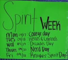 homecoming spirit week ideas