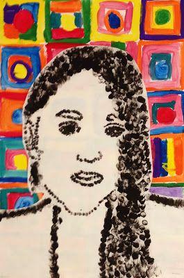 Chuck Close Thumbprint Portraits