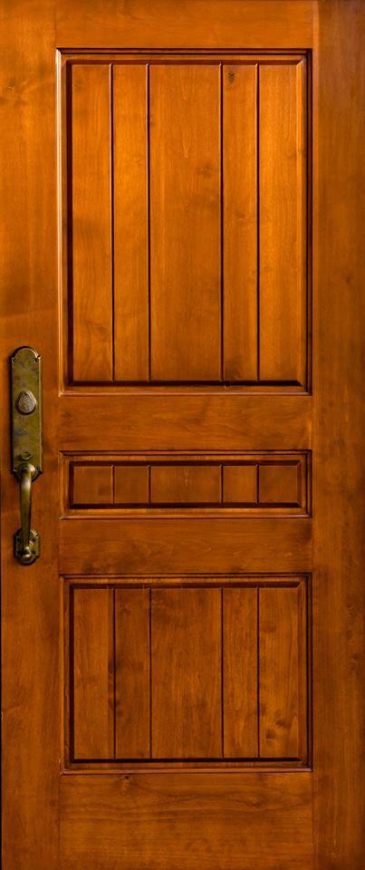 Spanish Cedar solid wood door with Rocky Mountain Hardware. www.clearancedoor.com