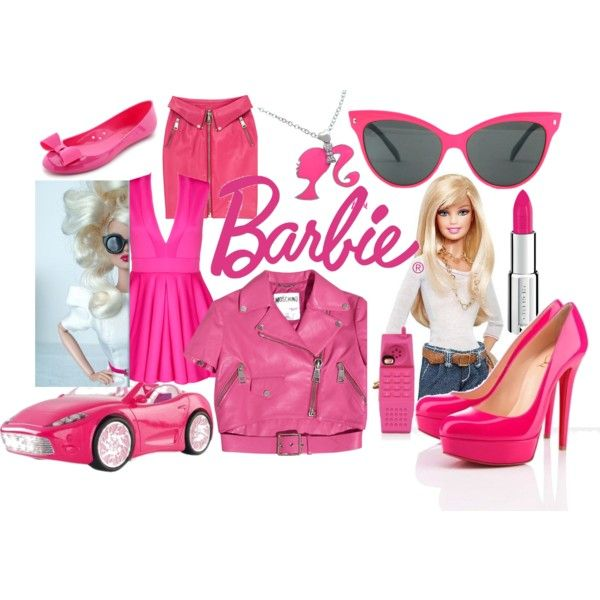 barbie by andreita-escalante on Polyvore featuring Moschino, Kate Spade, Givenchy and Mattel