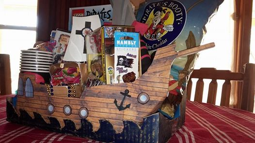 Our pirate gift basket theme for the school's auction ...