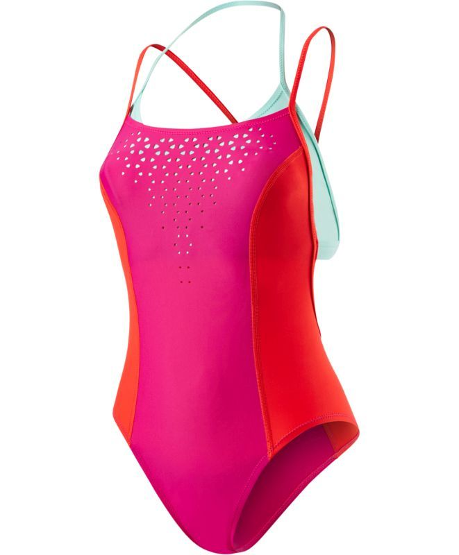 Luna Vision Loopback Swimsuit. H₂O Active | Designed to do more, both in and out of the pool. Made with Econyl® yarn comprised of regenerated plastics, including abandoned fishing nets that might otherwise harm animals in the ocean. Shop the full collection at www.speedo.com