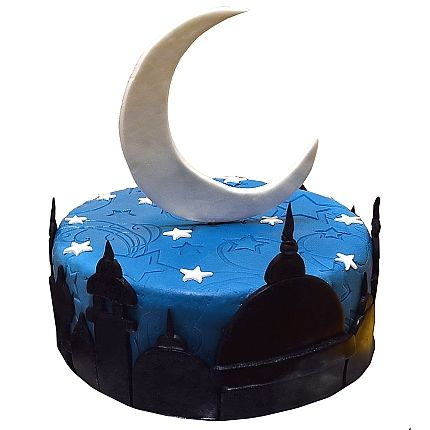 Cakes For Eid Decorated with Stars and Moons