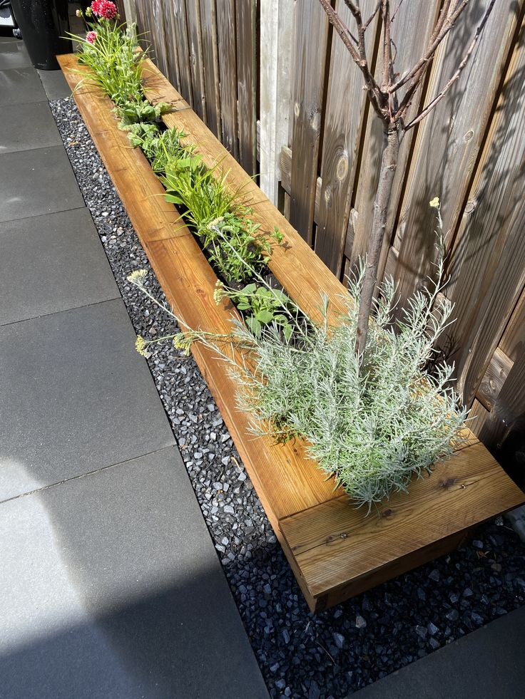Homemade bloembak (laag) van Douglas hout. in 2020