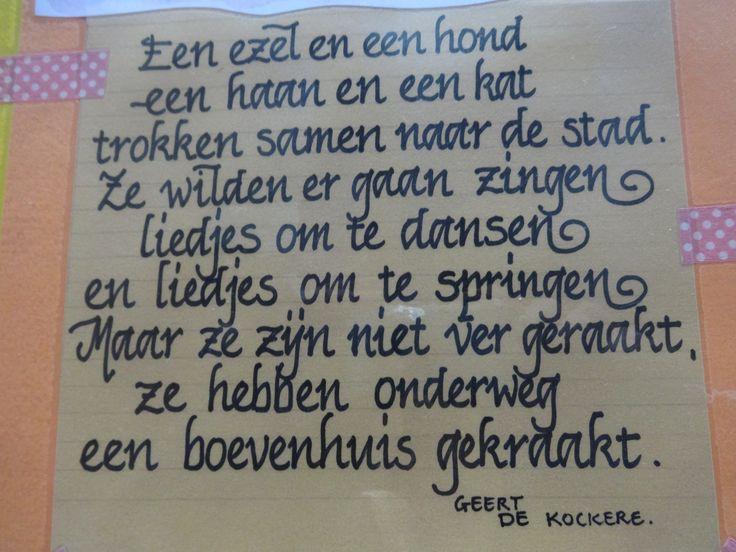 Een gedichtje rond de Bremer Stadsmuzikanten.