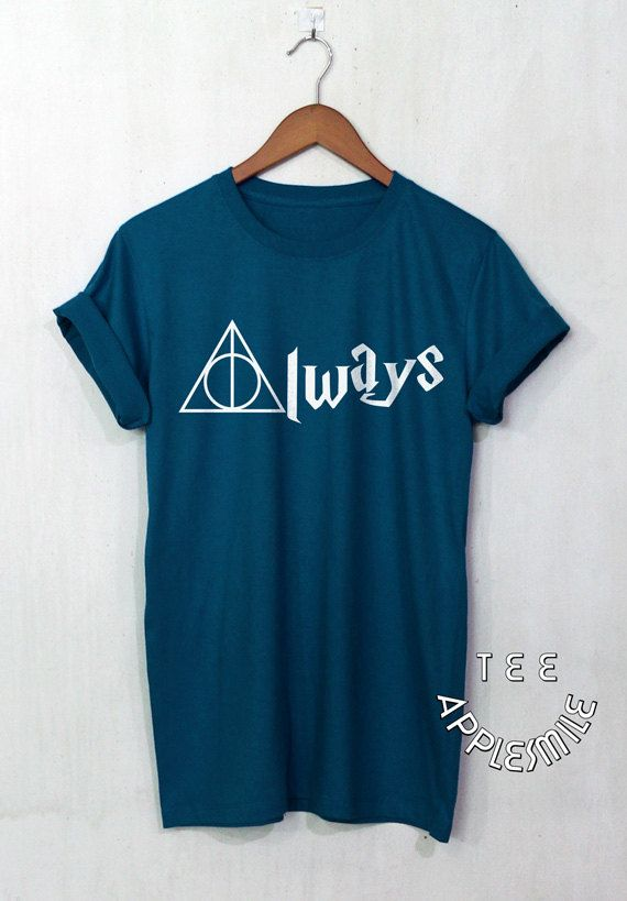 Always Deathly Hallows Shirt Harry Potter by AppleSmileTee on Etsy