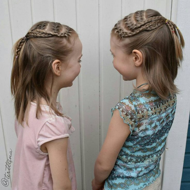 """Hair by @terttiina Instagramissa: """"Aww, these two! Having fun with their matching french braids!Inspo from amazing account of…"""""""