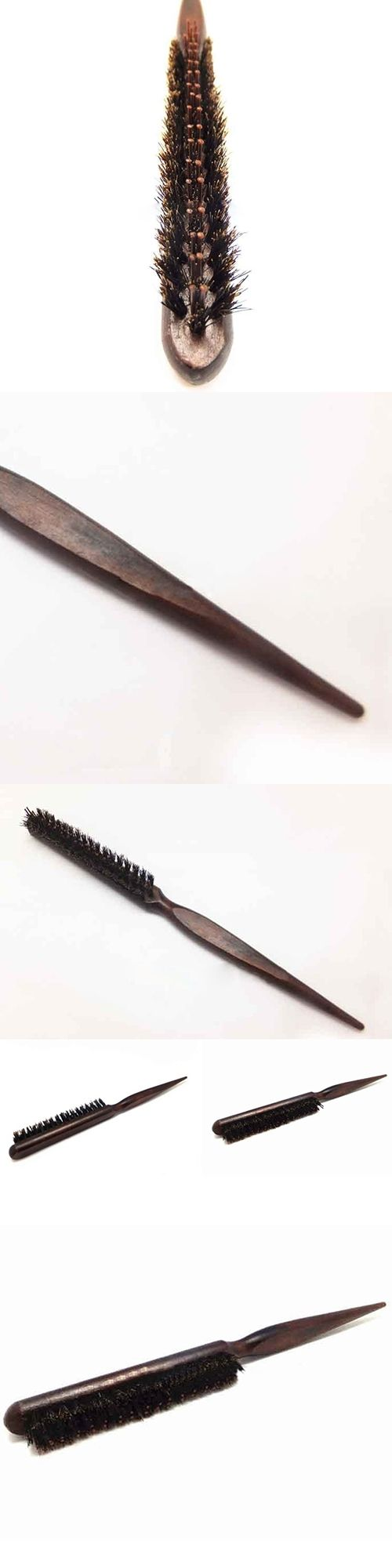 Pro Salon Backcombing Hair Up Volume Bristle Teasing Brush Styling Comb Tool