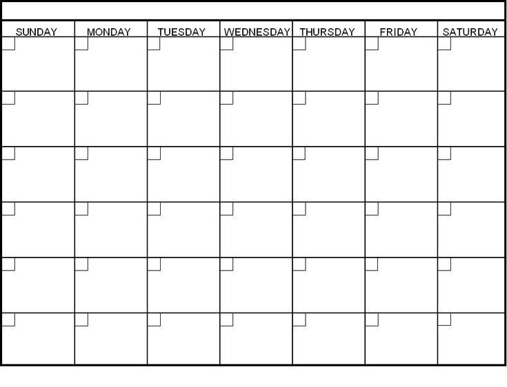 17 best ideas about Blank Calendar Template on Pinterest   Blank ...