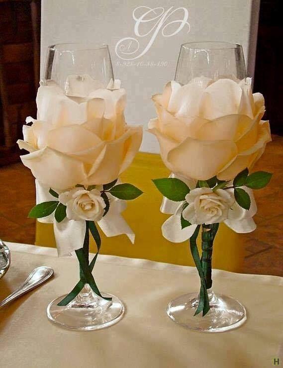 Image result for copas decoradas para boda
