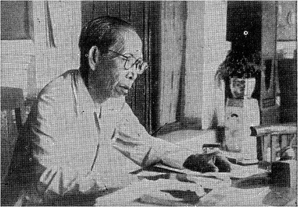 Ki Hajar Dewantara when studying in his own house.