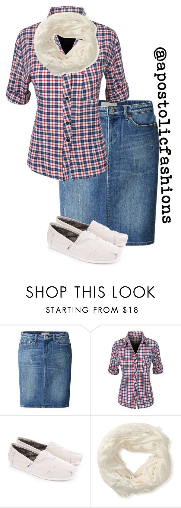 """Apostolic Fashions #1260"" by apostolicfashions on Polyvore featuring Uniqlo, LE3NO, TOMS and Aéropostale"