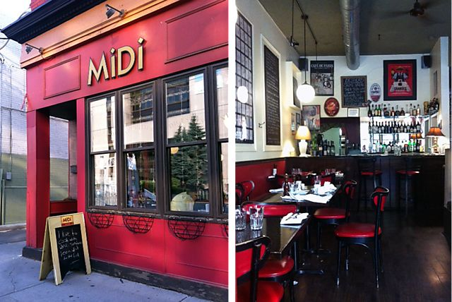 Intimate bistro, serves French & Mediterranean fare. Around the corner from Baldwin St. & minutes from the AGO.