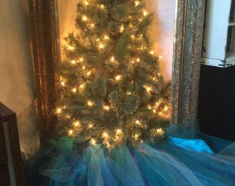Árbol de Navidad turquesa falda 2' árbol