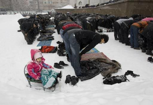 Kazakhstan Jum'a (Friday) Prayer in the Snow