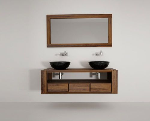 Double washbasin cabinet / wall-hung / wooden / contemporary MAX Karpenter