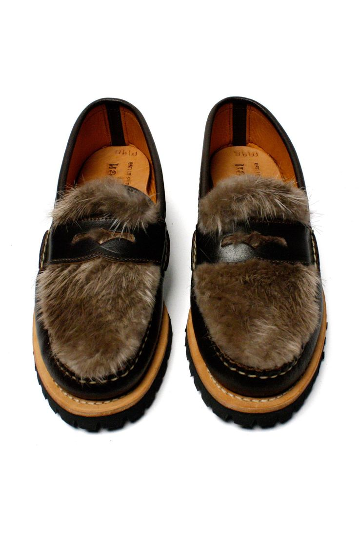 Penny Loafer with Beaver Fur