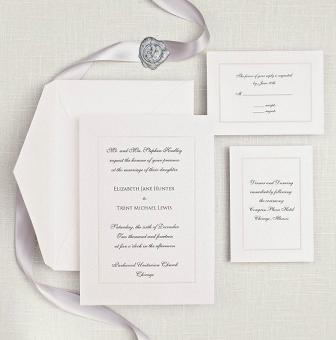 Manhattan Wedding Invitation - Exclusively Weddings