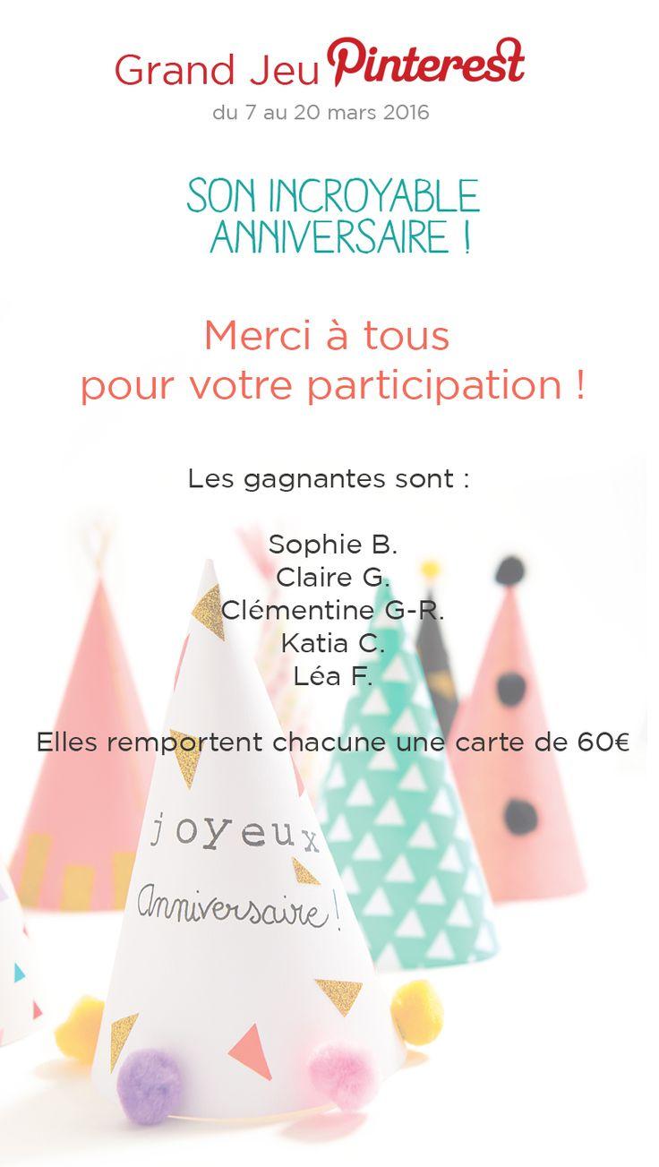 #GrandJeu #Sonincroyableanniversaire avec @vertbaudet, les gagnants : @girlystan @cdelune0718 @katewomanfr  @orchideffect @klmoneagain