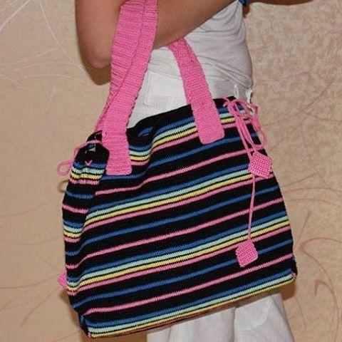 Пляжная сумка из хлопка