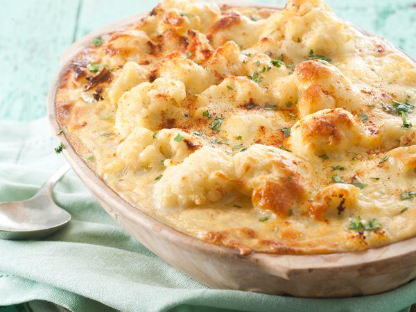 Beproef hierdie eenvoudige en heerlike blomkoolkaas as alternatief vir macaroni-kaas op vleislose...