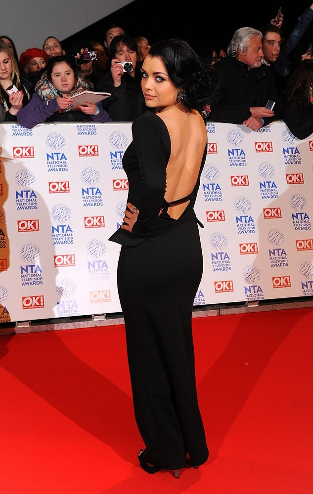 Eastenders starlet, Shona McGarty worked the backless trend to a tee.